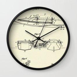 Pontoon Boat 02-1944 Wall Clock