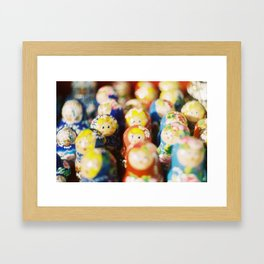 Matryoshkas Framed Art Print
