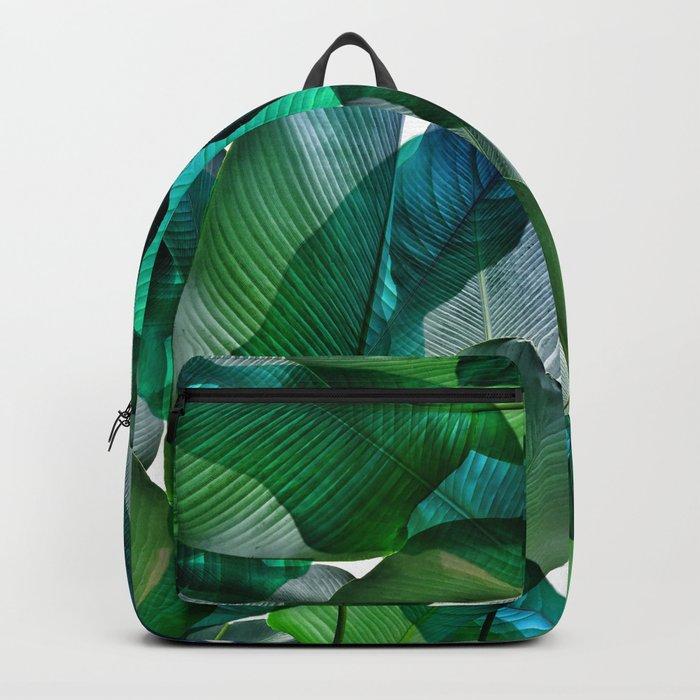 Palm leaf jungle Bali banana palm frond greens Backpack