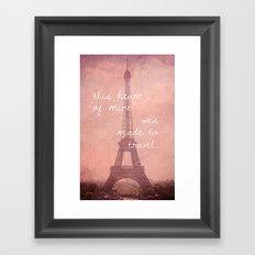 This Heart Was Made to Travel Framed Art Print