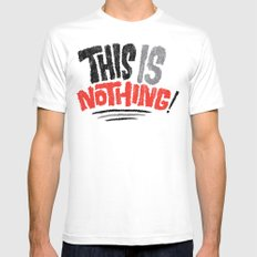 This is Nothing! White MEDIUM Mens Fitted Tee
