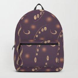 Antiqued Purple Musical Notes Honey Locust Print Backpack