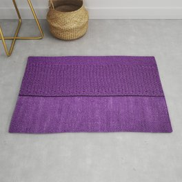 the texture of the knitted fabric, a plain purple color Rug