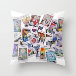 Tarot Deck Throw Pillow