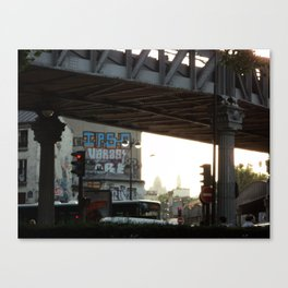 Elevated tracks in Paris Canvas Print