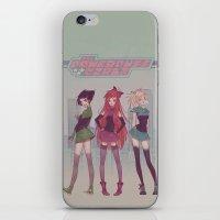powerpuff girls iPhone & iPod Skins featuring PowerPuff! by Mioree