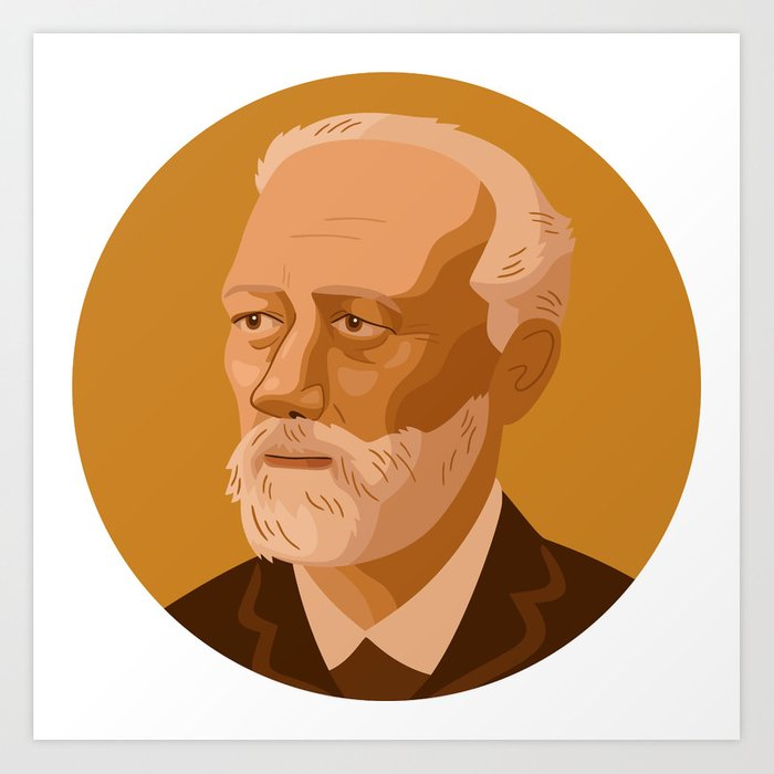 Queer Portrait - Pyotr Ilyich Tchaikovsky Art Print