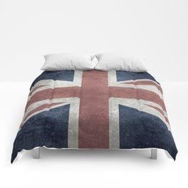 UK Flag, Retro Desaturated 1:2 scale Comforters
