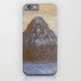 Haystacks - Snow Effect by Claude Monet iPhone Case