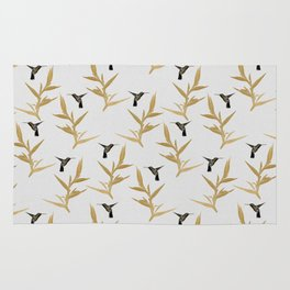 Hummingbird & Flower II Rug