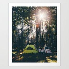Camp Vibes & Sunshine Art Print