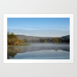 Sunrise Mirror Landscape Art Print