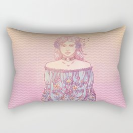 Kikazaru Sister Rectangular Pillow