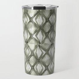 Braided Diamond Simply Green Tea on Lunar Gray Travel Mug