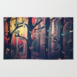 The Woods at Sunset Rug