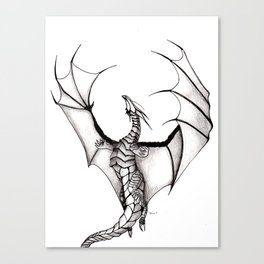 Dragons reach Canvas Print