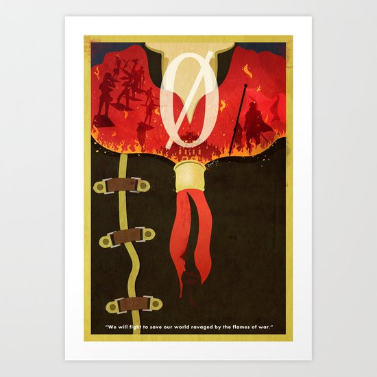 Vintage FF Type-0 Poster (without Project Crystallis Text) Art Print