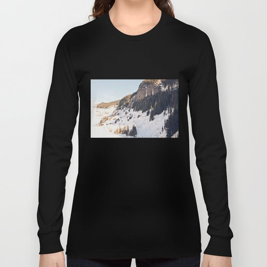 Mountain Snow in the Sun Long Sleeve T-shirt