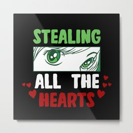 Anime Stealing All The Hearts Metal Print