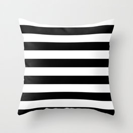 Black & White Stripes- Mix & Match with Simplicity of Life Throw Pillow