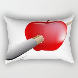 Arrow And Apple Rectangular Pillow