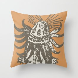 Great Sea Monsters Navigations Throw Pillow