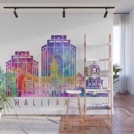 Halifax skyline landmarks in watercolor Wall Mural