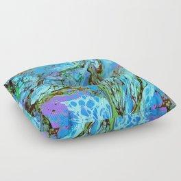 Blue Fantasy Floor Pillow