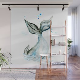 Whale tail Wall Mural