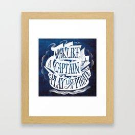 like a pirate Framed Art Print