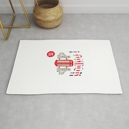 Awesome London Is Calling Skyline UK Rug