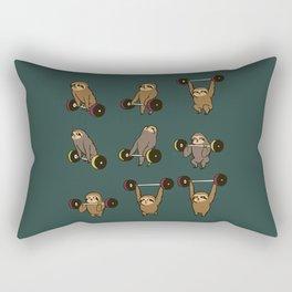 OLYMPIC LIFTING SLOTHS Rectangular Pillow