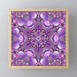 Truth Mandala in Purple, Pink and White Framed Mini Art Print