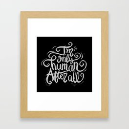 Typo After All Framed Art Print