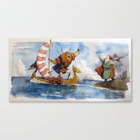 viking Canvas Prints featuring Viking by Jose Luis Ocana
