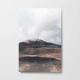 Volcanic Crater Turned Into A Lake Metal Print