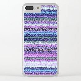 Purple Blue Lavender Carpet Clear iPhone Case