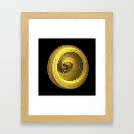 3D Fractal Ring Framed Art Print