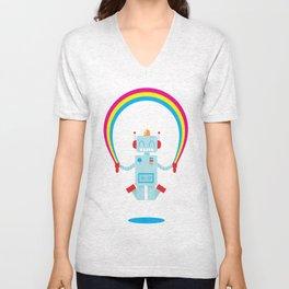 Skipping a Rainbow Unisex V-Neck