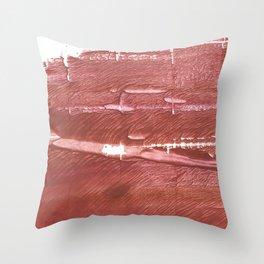 Red Brown nebulous wash drawing pattern Throw Pillow