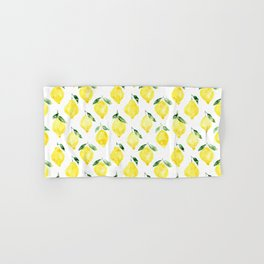 Sicilian lemons || watercolor Hand & Bath Towel