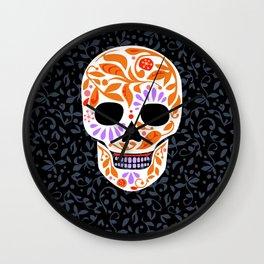 Sugar Skulls_Celebracion del Color line_Calaveras_RobinPickens Wall Clock