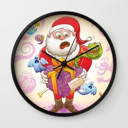 A Christmas Gift from Halloween Creepies to Santa Wall Clock