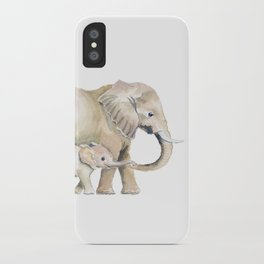 Mom and Baby Elephant 2 iPhone Case