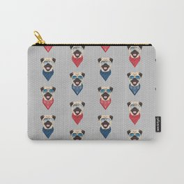 Pug summer bandana sunglasses pure breed dog gifts Carry-All Pouch
