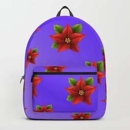 Red Flowers Pattern 3 Backpack