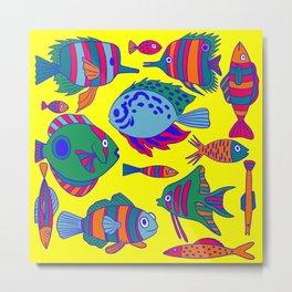 Tropical Fishes  Metal Print