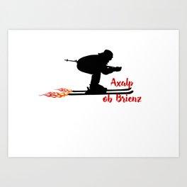 Ski speeding at Axalp ob Brienz Art Print