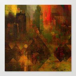 Pyramidal city Canvas Print