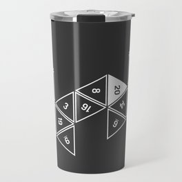 Unrolled D20 Travel Mug